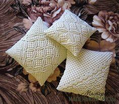 Macrame Art, Macrame Design, Linen Pillows, Throw Pillows, Cushions, Crochet Vase, Crochet Pillow Patterns Free, Homemade Home Decor, How To Tie Shoes