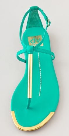 Dolce Vita Flat Sandals.. turquoise ... I'm a sucker for this colour...just love it !