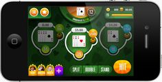Mobile Blackjack Game by Adam Jones, via Behance