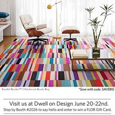 Parallel Reality 5 Patchwork Ready Rug, comprised of Parallel Reality Purple, Teal, Burgundy, Pink and Green carpet tiles by FLOR