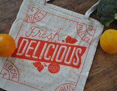 Market Tote Bag by MaryKateMcDevitt on Etsy