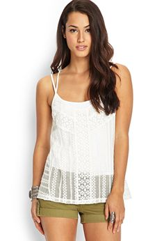 Strappy Crossback Crochet Cami | FOREVER21 #F21Contemporary