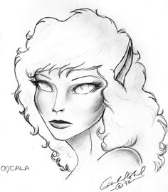 Ontala. Granddaughter of Dranda and Grandmother of Mykal. Blind since childhood, she has the unique gift of being able to detect the special traits of others.