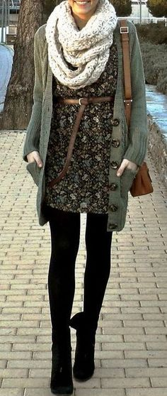 Ways to Style Leggings! They pair beautifully under dresses and skirts this season, too! Layer any of your favorites over your leggings for some added warmth that's still stylish!