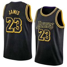c92c4a9c02c 23 James Lakers Jersey 2018 New Los Angeles Lakers LeBron James Jerseys  Black