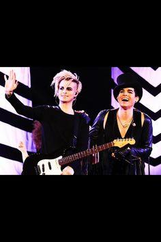 Adam Lambert Tommy Joe Ratliff. I LOVE these two dudes!!