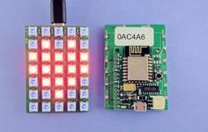 Learn how to make a WiFi enabled LED matrix with ESP8266 http://rayshobby.net/wifi-color-led-matrix