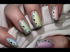 Pastell Mix Nageldesign mit Nagellack für kurze und lange Nägel / Nail A...