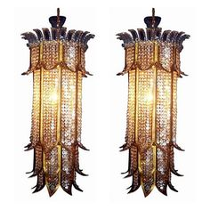 Crystal Sconces (c.1940's)
