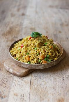 My favourite fusion dish! Hot & tasty curried coconut rice! Vegan + GF