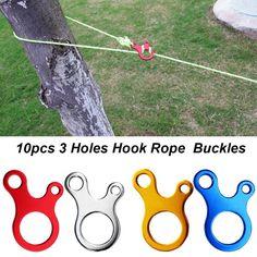 2Pcs Black Nylon Self-lock Rope Cord Tensioner Runner for Kayak accessories L F4