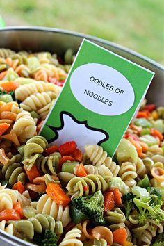 Dr. Seuss Birthday Party- mac salad instead though..