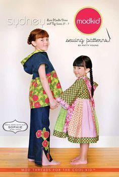 Designer Sewing Pattern - Modkid Sydney Euro Hoodie Dress & Top Pattern