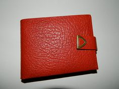 Vintage Red Ox Grain Wallet New Condition by NettyVintage on Etsy