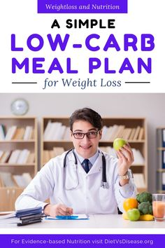 A low-carb meal plan may be your key to losing weight. Low-carb diets have become increasingly popular, with some people claiming that weight loss can become practically effortless when going low-carb.However, these diets aren't for everyone. Here, we'll go over some pros and cons of low-carb dieting and provide a simple low-carb meal plan for weight loss. #dietitian #nutrition #nutritionist Nutrition Education, Key To Losing Weight, Trying To Lose Weight, Health Routine, Easy Meal Plans, Low Carb Meal Plan, Fodmap Diet, Natural Health Remedies
