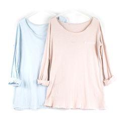 Camiseta de algodón con puntilla en la parte delantera e inferior de la camiseta. Talla única.