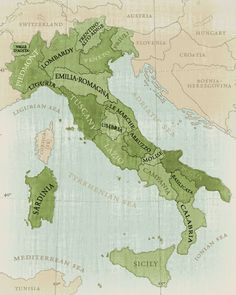 I want a map of Italy framed on my kitchen wall. My cooking is heavily Italian based.