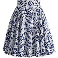 Chicwish Twirl in Blue Lace Skirt ($45) ❤ liked on Polyvore featuring skirts, blue, patterned skirt, knee length lace skirt, lacy skirt, lace skirt and blue print skirt