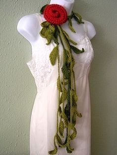 Vines Lariat Scarf Crochet Pattern PDF  permission to by timaryart, $3.00