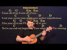 All Of Me (John Legend) Baritone Ukulele Cover Lesson