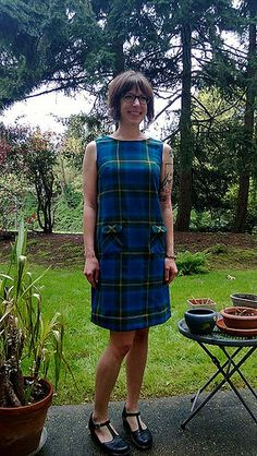 Make the Colette Laurel dress in our new flannels!
