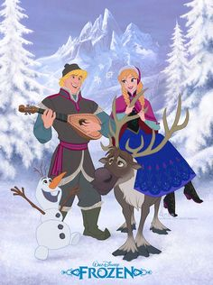 Disney's FROZEN - Full Colour and in 2D! by davidkawena on deviantART