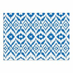 KESS InHouse Victoria Krupp 'Vk_Ikat' Blue Tribal Dog Place Mat, 13' x 18' >>> If you love this, read review now : Dog food container
