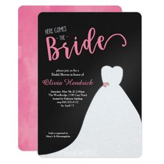 Wedding Gown Bridal Shower Invitation | Start planning a memorable Bridal Shower with these stylish bridal shower invitations.