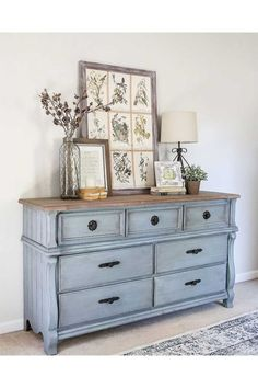 Amazing op shop furniture makeover | Home Beautiful Magazine Australia  Beautiful French Blue Dresser
