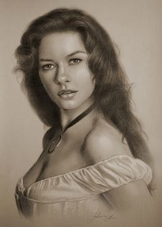 Catherine Zeta-Jones Drawing by krzysztof20d