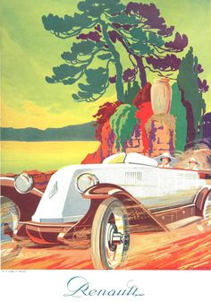 Renault 1923 Country Road - Mad Men Art: The 1891-1970 Vintage Advertisement Art Collection