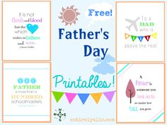 Free Father's Day Quote Printables from Entirely Alis