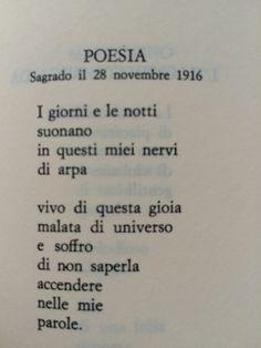 """Giuseppe Ungaretti, Poesia, da """"Poesie disperse"""", Vita di un uomo"""
