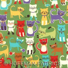 Animal Treats by Hoffman Fabrics:  J3201 115-Grass  {3 colors in this pattern}