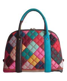 Look at this #zulilyfind! Teal Rainbow Olivia Leather Shoulder Bag by Amerileather #zulilyfinds