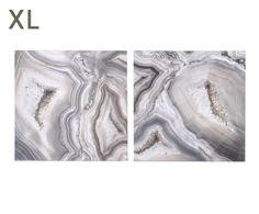 """Komplet 2 dekoracji ściennych """"Stone"""", 90 x 3 x 90 cm"""