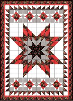 A Lone Star quilt with half square triangles is a much less daunting proposition than a Lone Star quilt with diamonds, bias edges and inset. Lone Star Quilt Pattern, Barn Quilt Patterns, Star Quilt Blocks, Star Quilts, Quilting Projects, Quilting Designs, Quilting Ideas, Half Square Triangle Quilts, Medallion Quilt
