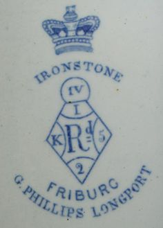 Pottery - Registration numbers and diamond