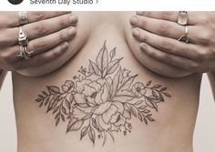 Floral sternum tattoo by tritoan ly new tattoo тату, идеи дл Belly Tattoos, Forearm Tattoos, Body Art Tattoos, Sternum Tattoos, Tattoo Art, Tattos, Tattoo Drawings, Tatoo Designs, Tattoo Sleeve Designs