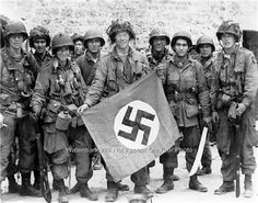 army rangers on d-day | Photo Airborne Rangers Nazi Flag U s Military Army World War II D Day ...