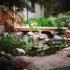Talk about a backyard oasis!  Visit atlanticwatergard... for more beautiful water feature photos.