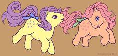 G1 MLP Baby Lemondrop and Baby Peachy by MoogleyMog on DeviantArt