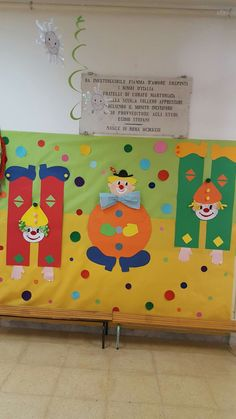 Clown Crafts, Carnival Crafts, Circus Carnival Party, Bear Crafts, Cute Crafts, Diy And Crafts, Crafts For Kids, Circus Theme Classroom, Classroom Decor
