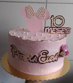 Baby Cakes, Girly Cakes, Diy Wedding Cake Topper, Wedding Cakes, Minnie Mouse Birthday Decorations, Princess Cake Toppers, Cricut Cake, Bolo Minnie, Beautiful Birthday Cakes