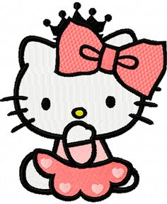 Hello Little Kitty   Hello Kitty Little Princess machine embroidery design