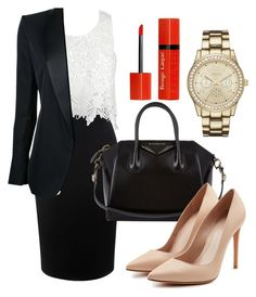 """Office style"" by jana-jarockaja on Polyvore featuring Alexander McQueen, Sans Souci, Tom Ford, Givenchy, Geneva and Bourjois"