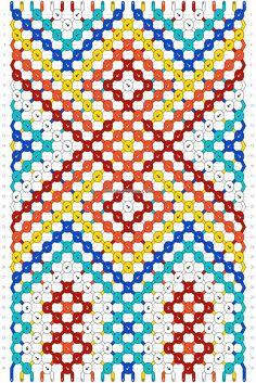 Normal friendship bracelet pattern added by dianis. Diy Bracelets Patterns, Diy Bracelets Easy, Thread Bracelets, Bracelet Crafts, Bracelet Designs, Diy Friendship Bracelets Patterns, Beading Techniques, Tapestry Crochet, Loom Beading