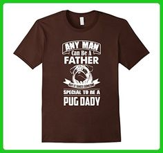 Mens Any man can be a father but pug daddy Tshirt 3XL Brown - Relatives and family shirts (*Amazon Partner-Link)