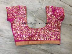 Small Mirror Work Pink blouse