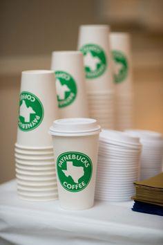 ann whittington events elegant rehearsal dinner southern style country club custom payne-bucks coffee cups for coffee station starbucks look
